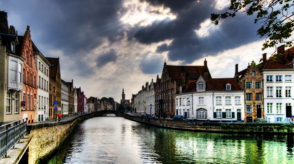The Canal in Bruges, Belgium