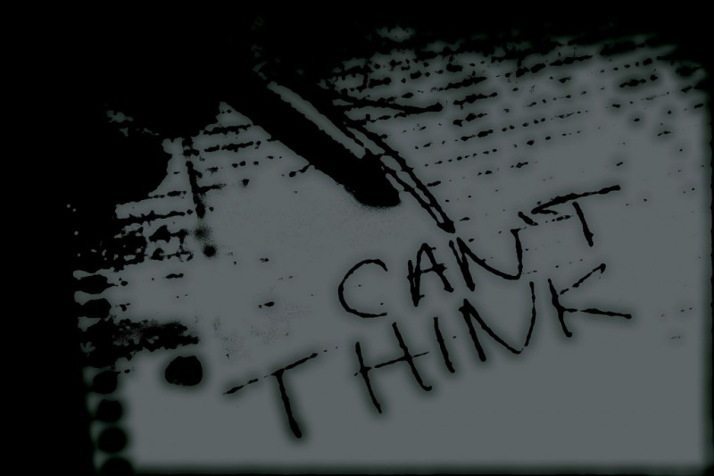 """I Can't Think"" (notebook scribble)"