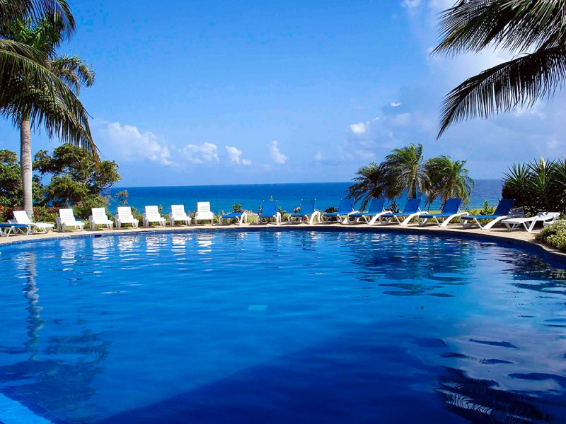 Hotel Pool at Caliente Caribe Resort