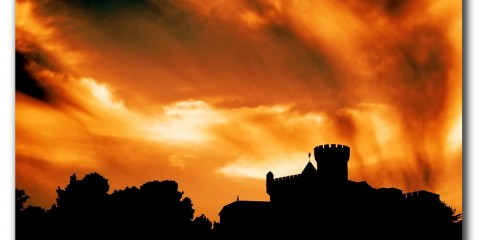 Castle of Castelldefels in Barcelona, Spain