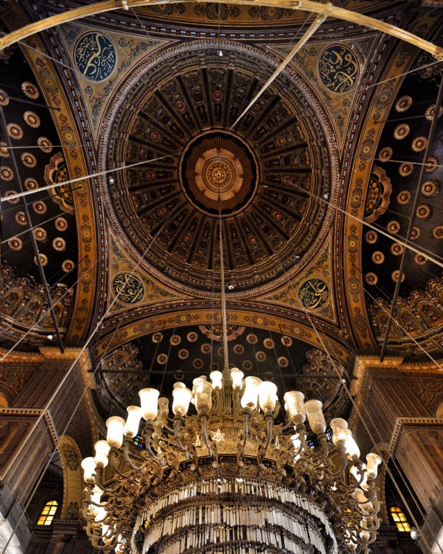 Ceiling of the Alabaster Mosque (aka The Mosque of Muhammad Ali) in Cairo, Egypt