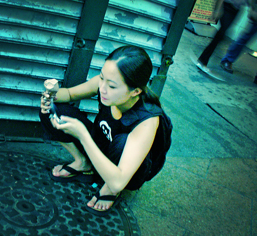 Girl on Cell Phone, New York City