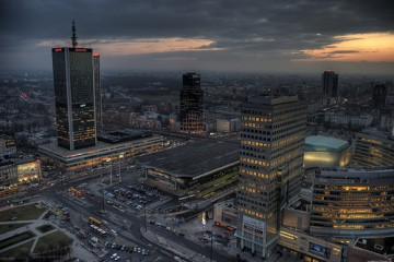 Central Station in Warsaw, Poland