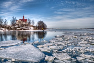 Ice floes in near Helsinki, Finland
