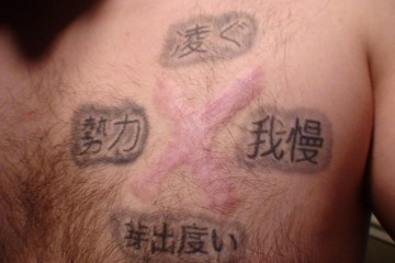 Chinese Symbol/Language Tattoo