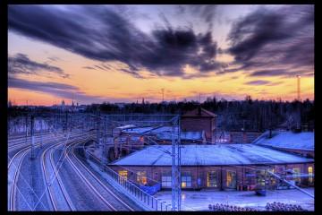 Christmas Day Sunset Over Helsinki, Finland
