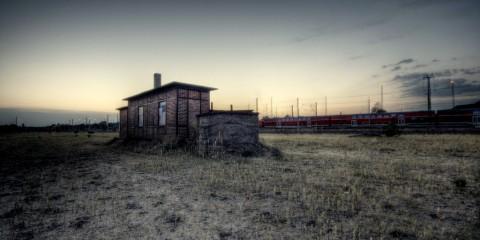 Deserted City Railway Station in Berlin, Germany