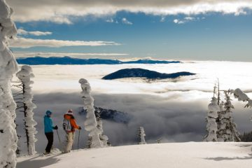 Clouds Over the Powder Highway in British Columbia, Canada