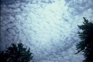 Cloudy Sky Over New Buffalo, Michigan