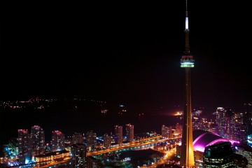 CN Tower Over Electric Toronto