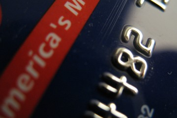 Closeup of a Commerce Bank credit card