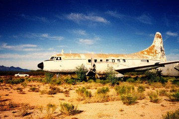 Convair Airplane in the Arizona Boneyard, Avra Valley