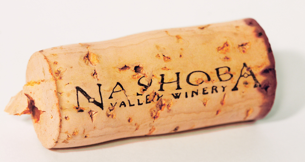 Cork at Nashoba Valley Winery in Massachusetts (closeup)