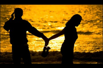 Couple Holding Hands in Mumbai, India