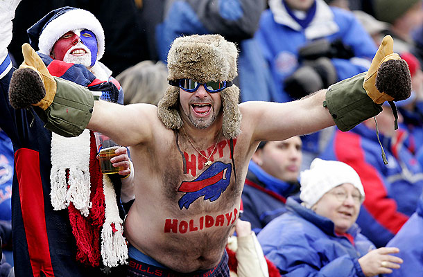 Crazy Buffalo Bills Fan