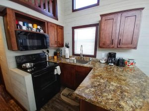 CreekFire Motor Ranch (Savannah, GA) - Kitchen in Cabin 01