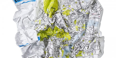 Crumpled City Map (London)
