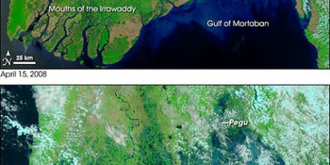 Cyclone Nargis, Before and After