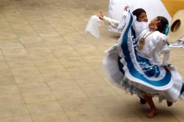 Dancing Marinera in Trujillo, Peru