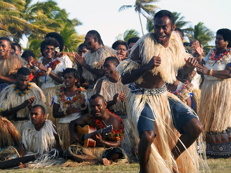 Dancing Staff at Turtle Island Resort, Fiji