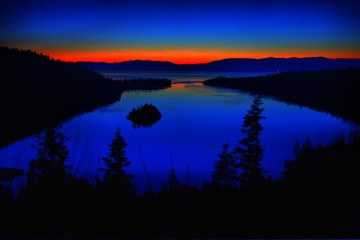 Dawn's First Glow Over Emerald Bay, Nevada