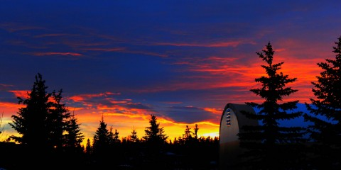 Sunrise over Bluebird Estates, Alberta, Canada