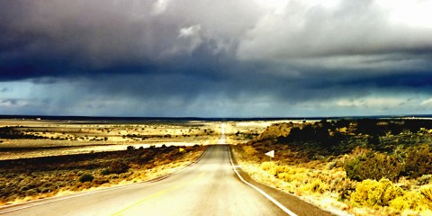 Rain in the desert, Arizona near the Black Mesa