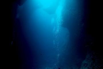 Diving Blue Hole, Palau