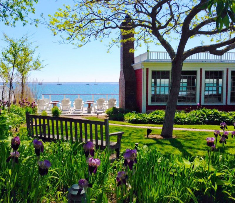 Lawn and Deck at The red Inn in Provincetown