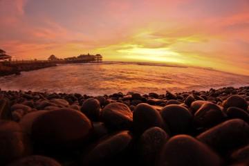 Sunset on the Pier, Makaha, Peru