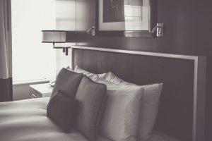 Drab hotel room