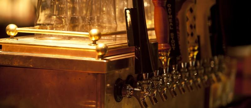 Beer Taps @ Crop, Stowe, Vermont