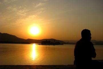 Dusk on Lake Palace, Udaipur, Rajasthan, India