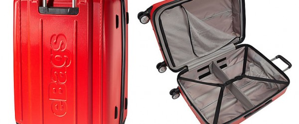 "eBags EXO Hardside 24"" Spinner Luggage (red)"