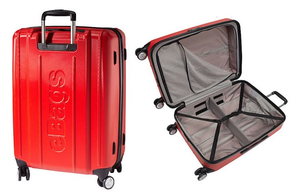 "eBags EXO Hardside 24"" Spinner Luggage (red)"