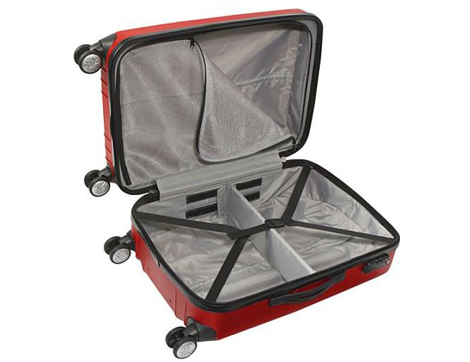 "eBags EXO Hardside 24"" Spinner (open)"