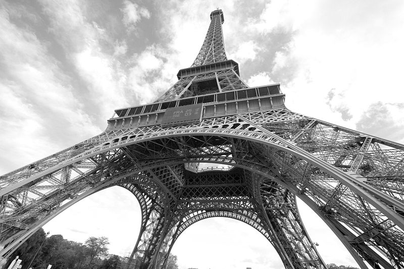 Eiffel Tower (low angle), Paris