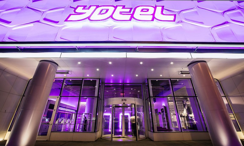Entrance of Yotel Hotel in New York City
