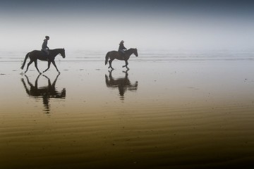 Riders on the Sand, California
