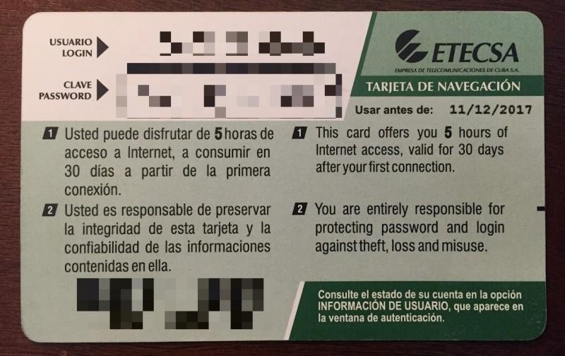 NAUTA Prepaid Wi-Fi Card (rear)