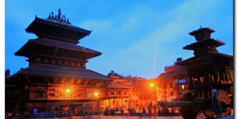 Evening Lights at Bhaktapur, Nepal