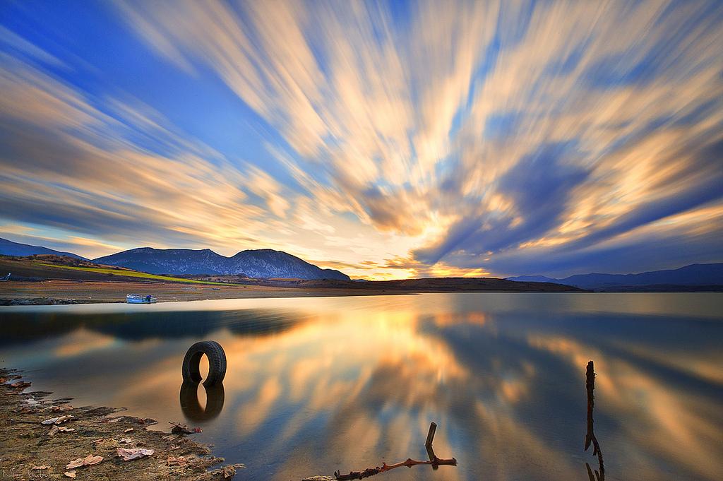 Photo of the Moment: Exploding Sky Over Polifitos Lake, Greece — Vagabondish