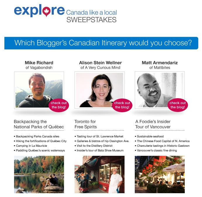 """Explore Canada Like a Local"" (contest page screenshot)"