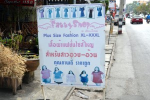 "Sign for store called ""The Fatty Shop"", Chiang Mai, Thailand"
