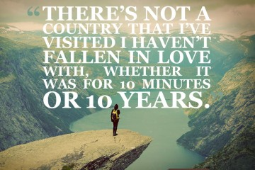 Travel quote on falling in love with a destination