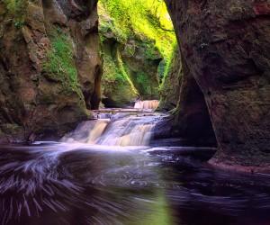 Finnich Gorge Waterfalls, Scotland