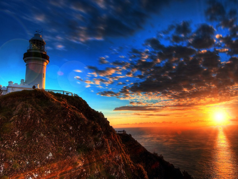 First Light Over Byron Bay, New South Wales, Australia