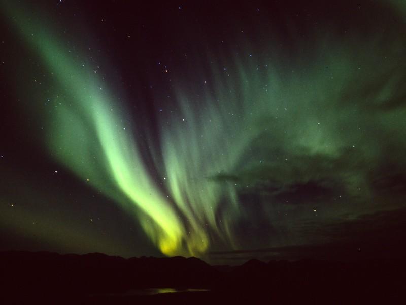 Fish Lake Aurora Borealis, Whitehorse, Yukon Territory, Canada