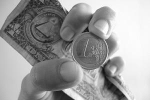 Closeup of Hand Holding Money