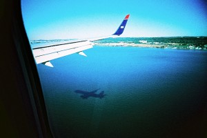 Coming into Reagan Airport in Washington DC, down the Potomac River